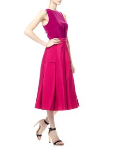 Pink Two Tone Pleated Dress | Barbara Casasola | Avenue32
