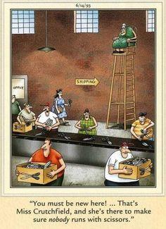 Gary Larson Far Side, The Far Side, Funny Cartoons, Humor, Painting, Funny Stuff, Friday, Smile, Comics