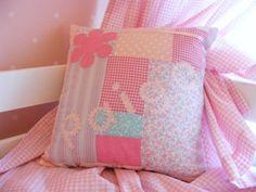 Girls patchwork cushion