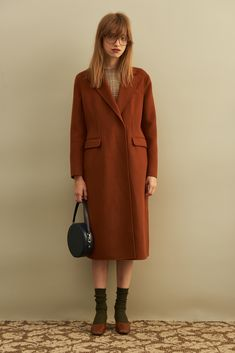 Double-sided Wool-blend Coat