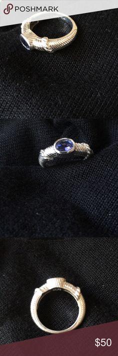 Judith Ripka ring Sterling with blue quartz stone judith ripka Jewelry Rings