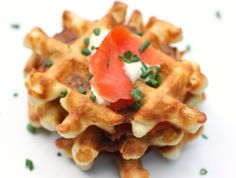 lisa is cooking: Smoked Salmon Waffles