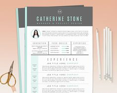 "Resume Template / CV Template + Cover Letter for Word ( 3 page pack ) | Instant Digital Download | The ""iNova"""