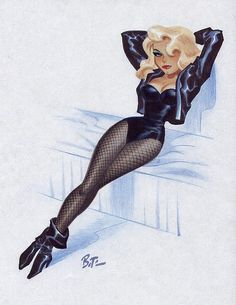 Black Canary - Bruce Timm reminds me of Grease Comic Book Characters, Comic Character, Comic Books Art, Female Characters, Bruce Timm, Girl Cartoon, Cartoon Art, Arrow Black Canary, Black Canary Comic