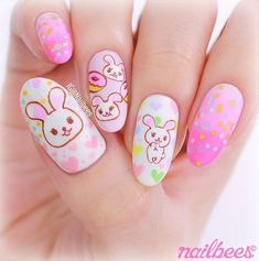 Pink Bunny | Cutest Animal Nail Art Designs You'll Fall In Love With