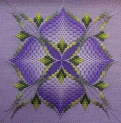 4-Way Bargello Orchid designer: Toni Gerdes