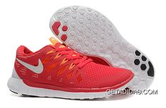 http://www.getadidas.com/nike-free-50-red-orange-white-running-shoes-topdeals.html NIKE FREE 5.0+ RED ORANGE WHITE RUNNING SHOES TOPDEALS Only $66.39 , Free Shipping!