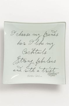 Ben's Garden 'I Choose My Friends' Trinket Tray available at Nordstrom