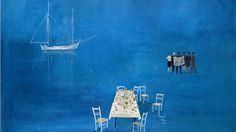 """"""" στα μαθηματικά ποτέ δεν καταλαβαίνουμε,απλώς συνηθίζουμε""""John Von Neumann (1903-1957): ΣΠΥΡΟΣ ΒΑΣΙΛΕΙΟΥ Greece Painting, Greek Art, Colorful Paintings, Artist Art, Printmaking, Seaside, Modern Art, Art Projects, Art Pieces"""