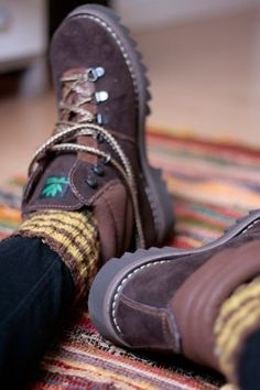 Hiking boots. - Hiking in style? Yes please. I think id wear these to school....