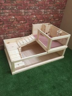 Guinea pigs pigs and cottages on pinterest for How to build a guinea pig house
