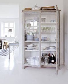 Repurpose an old cabinet, bookshelf or armoire.the possibilities are endless. Home Living, Living Rooms, Dining Furniture, Vintage Furniture, Dining Room Dresser, Furniture Ideas, Dining Cabinet, Furniture Nyc, Furniture Movers