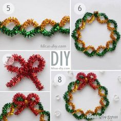 Diy christmas wreaths 859765385097743517 - Pipe Cleaners Christmas Crafts — The Best Ideas DIY, Crafts & Decor Projects Source by Diy Christmas Videos, Christmas Crafts For Kids, Diy Christmas Ornaments, Crafts For Teens, Holiday Crafts, Christmas Wreaths, Christmas Decorations, Easy Ornaments, Christmas Crafts Pipe Cleaners