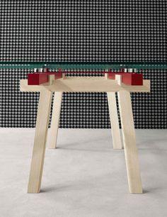 Extending crystal #table TRACKS by Bonaldo | #design Alain Gilles @Bonaldo