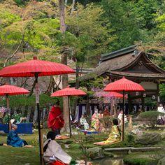 京都.上賀茂神社・賀茂曲水宴                     Kyoto, Japan