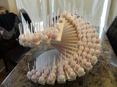 Spiral Custom Made Cake Pop Stand Holds 242 Cake Cake Pop Displays, Cake Pop Stands, Diy Cake Pop Stand, Cake Pops How To Make, Food Platters, Savoury Cake, Clean Eating Snacks, Dessert Table, Sweet 16