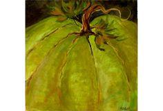 Green Pumpkin Still Life