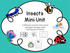 This mini-unit includes everything you need to teach your students about insects! Activities included are: Butterfly Life Cycle Insect Vocabulary Puzzles Sentence Writing Insect Body Part Roll and Label Sight Word spin and write