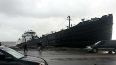 Sandy Coverage - New York News | HURRICANE SANDY A large tanker ship ended up on a Staten Island road. (Oct. 30, 2012)