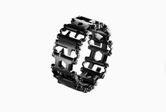 Leatherman's new Tread is an industry first: a serious multi-tool that's worn on the wrist. Each link on the band includes two to three functional tools, for a total of 25 usable features.