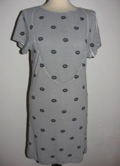 * * * PATRIZIA PEPE Longshirt/Minikleid grau m.Allover-print, Gr.2/D 36 * * * | eBay Patrizia Pepe, Short Sleeve Dresses, Dresses With Sleeves, Ebay, Fashion, Clothing Accessories, Gowns, Moda, Sleeve Dresses