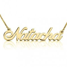 66e3b809fb06 Details about Name Necklace - Any Name Personalized 24k Gold Plated Name  Jewelry - oNecklace ®