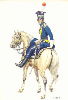 Coiffure France 19eme - Tritt W. Armeé de France 1800-1814 - Les costumes militaires -1812 - Chevauléger polonais 8e Régiment