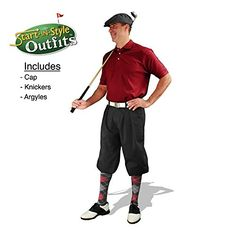 Golf Balls Ideas   StartInStyle Golf Knickers Outfit  Mens  Black  Size 34 >>> You can find out more details at the link of the image. Note:It is Affiliate Link to Amazon. #us