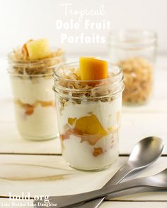 These tropical fruit parfaits are easy to make for a healthy breakfast or snack #lmldfood