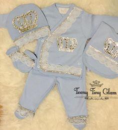 Crown Jewel Baby Royal Baby grow Sleep suite Set for newborn girl and boy