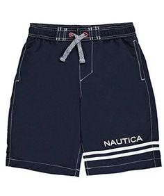 #beachaccessoriesstore Nautica Boys' Swim Trunk with Upf 50+ Sun Protection: beachaccessoriesstore are currently… #beachaccessoriesstore