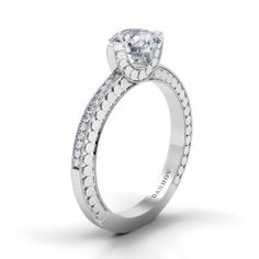 Danhov #Diamond Engagement Ring from our Tubetto Collection -TE126 #bride #wedding #love