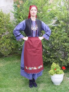 COSTUME ALATSAS OF NEOCHOROUDA PENTALOFOS Macedonia Greece, Alexander The Great, Traditional Wedding, Headpiece, Wedding Gowns, Folk Clothing, Product Launch, Costumes, Embroidery