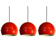 1960's pendant lamps - another great idea for a kitchen!