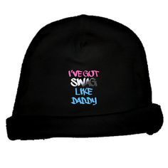 Grab this cute graffiti style I've got swag like daddy Baby Beanies so your child can be cool just like dad. $12.99 www.inktastic.com