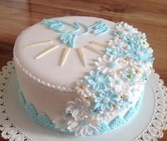 torty na prvé sväté prijímanie - Hľadať Googlom Pasta, Cake, Desserts, Food, Pastries, Xmas, Tailgate Desserts, Deserts, Kuchen