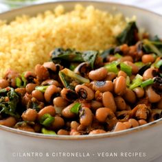 Smoky Vegan Black-Eyed Peas and Greens - - These smoky vegetarian black-eyed peas and greens will surprise you with how much flavour can come out of such simple ingredients. Healthy Dinner Recipes, Whole Food Recipes, Vegetarian Recipes, Cooking Recipes, Vegetable Recipes, Vegan Foods, Vegan Dishes, Black Eyed Peas Recipe Vegetarian, Canned Black Eyed Peas Recipe