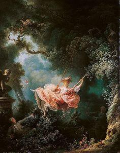 Die Schaukel gemalt 1767 von Jean-Honoré Fragonard
