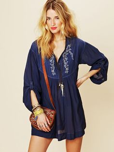 Free People Living Easy Tunic in Blue (denim blue)   Lyst