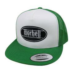 morhell - Trucker Mesh Cap grün Snapback mit aufgesticktem Logo