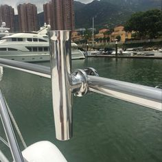 """Tamaño grande portacañas de Pesca yate barco Accesorios para tubo de Acero Inoxidable 1 de 1/4 """"y 2"""""""