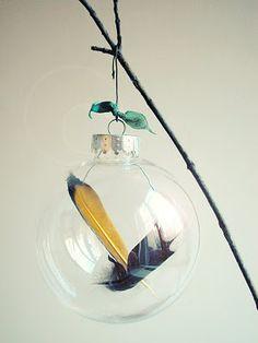 DIY Feather Ornaments @nordstromrack #nordstromrack