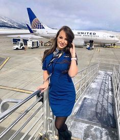 Hot latest dress Styles contain sexy bandage dresses, tops, swimwear and more with a fun latest fashion atmosphere! Affordable clothes, fashion and styles. Flight Attendant Hot, Airline Attendant, Delta Flight, Pantyhose Outfits, Military Women, United Airlines, Girls Uniforms, Cabin Crew, Latest Dress