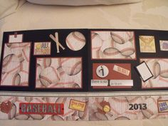 Baseball Premade Scrapbook Pages 2 page layout 12 x by Scrapinista, $11.85