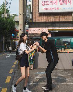 Ulzzang Kids, Ulzzang Couple, Korean Couple, Korean Girl, Pelo Bob, Teen Photography, Bae, Fashion Couple, Couple Outfits