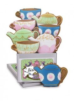 personalised tea for two tin - all biscuiteers - delicious hand iced biccies to order on line - say it with icing
