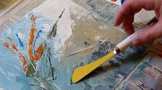 Thickening Acrylics for Palette Knife work - YouTube