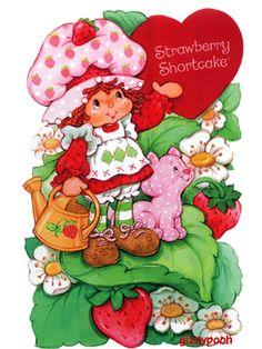 Strawberry Shortcake!  I love her!  I had a Strawberry Shortcake Cookbook!