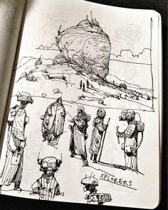 """Ian McQue """"In-flight doodling (return journey)"""""""