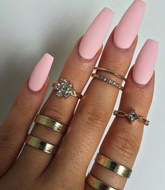 Long coffin nails It is considered attractive and lovely. They are popular with celebrities like Kylie Jenner. Long coffin nails The ends are narrowed and long nails cut. You can design nails in any color you want. They also provide… Continue Reading → Gorgeous Nails, Love Nails, Pretty Nails, My Nails, Pretty Nail Colors, Fall Nails, Holiday Nails, Cute Acrylic Nails, Pastel Nails